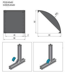 BRACKET COVER CAP-PG30 (3.22.30.6060)