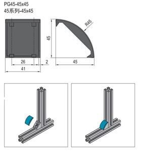 BRACKET COVER CAP-PG45 (3.22.45.4545)