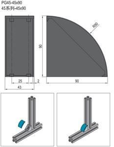 BRACKET COVER CAP-PG45 (3.22.45.4590)