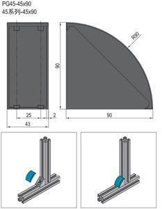 BRACKET COVER CAP-PG45 (3.22.45.4590)