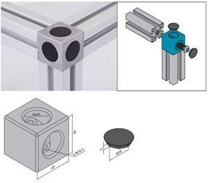 CUBIC CONNECTOR 45mm x 45mm & SET 2 PG45/50/60 (3.91.4545.02.ST)