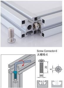 SCREW CONNECTOR 6 PG15/20 (3.81.06)