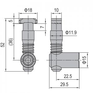 ANCHOR CONNECTOR PG45 STANDARD (MODEL C) (3.11.45.03)