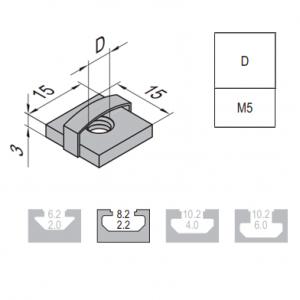 SQUARE NUT-8-M5 (2.12.08.M5)