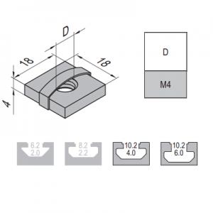 SQUARE NUT-10-M4 (2.12.10.M4)
