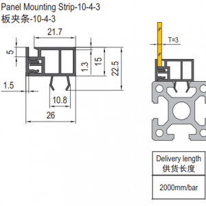 panel mounting strip