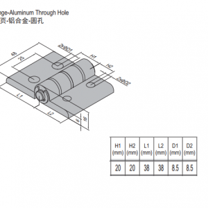HINGE w THROUGH HOLE & SET PG40 (7.23.40.40.ST)