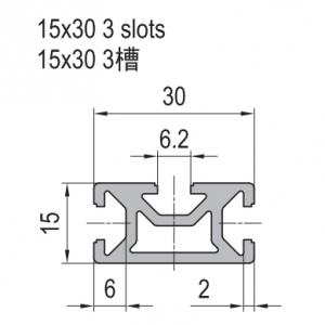 STRUT PROFILE PG15 15x30 3 slots (1.11.15.015030.03)