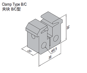 Clamp Type B (SPS.CL40.B)