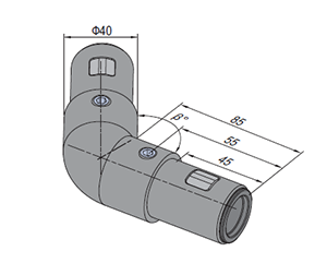 135 Degree Tube Connector (SPS.JC40.A135)