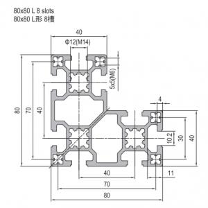 Strut Profile PG40 80x80