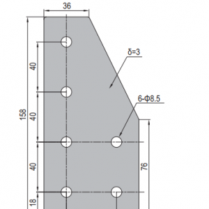JOINING PLATE PG40-4080-01 (CORNER PLATE) (SET X)