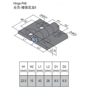PA6 HINGE 30/45 & SET (7.21.30.45.ST)