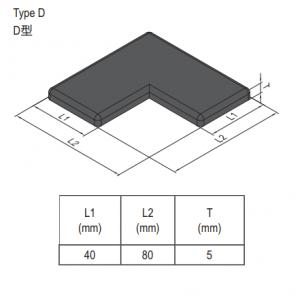 END CAP PG40 80x80L (L-SHAPE) (4.11.40.8080L)