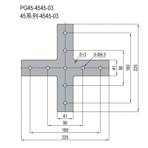 JOINING PLATE-PG40-4545-03 (PLUS-SHAPE) (SET I)