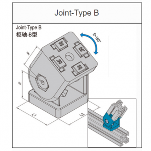 JOINT TYPE B - 40mm x 40mm (8.32.4040B)