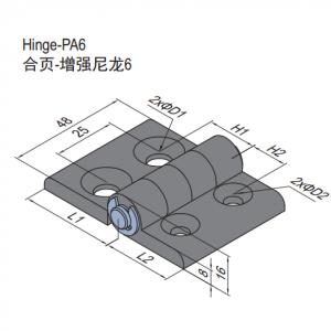 PA6 HINGE 45/45 & SET (7.21.45.45.ST)