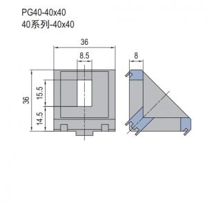 Die Cast Bracket-PG40-40x40 (set D) (3.21.40.4040.STD)
