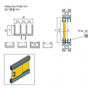 SLIDING DOOR PROFILE-10(EXCLUDING PE BAR) - 3M/BAR (7.51.10.04)