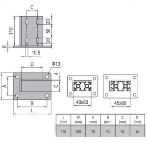 BASE PLATE 40x80 & SET (5.13.4080.ST)