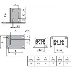 BASE PLATE 45x90 & SET (5.13.4590.ST)