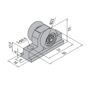 PULLEY BLOCK FOR SLIDING DOOR PG30 (PBDS30.PB)