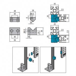 GUIDE BLOCK FOR SLIDING DOOR - PG40 (PBDS40.DS)