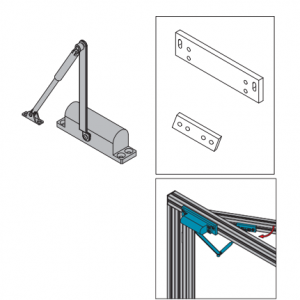 DOOR SHUTTER FOR CLAMPING PROFILE UNIT (PPDH.DS.ST)