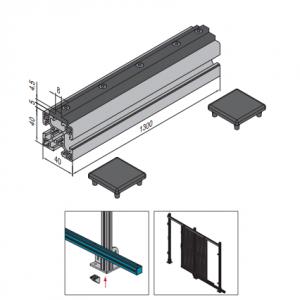 FRICTION STRIP COMPONENTS - L=1300mm (PPDS.FS.ST)