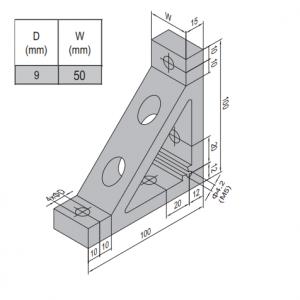 AP BRACKET 100X100-PG60-60 (SET) (3.31.100.60.60.ST)