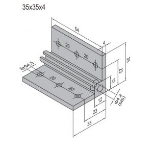 AP BRACKET 35X35-PG20-60 (SET) (3.31.35.20.60.ST)