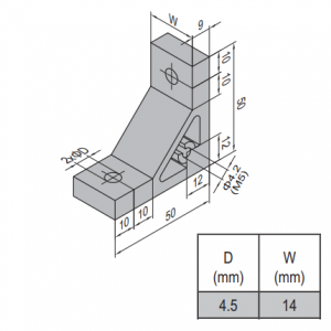 AP BRACKET 50X50-PG20-20 (SET) (3.31.50.20.20.ST)
