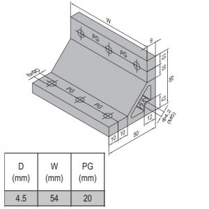 AP BRACKET 50X50-PG20-60 (SET) (3.31.50.20.60.ST)