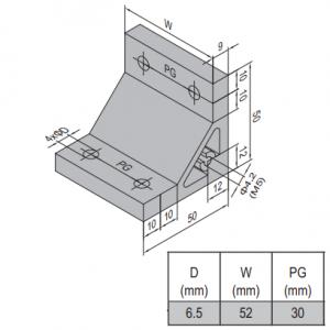 AP BRACKET 50X50-PG30-60 (SET) (3.31.50.30.60.ST)