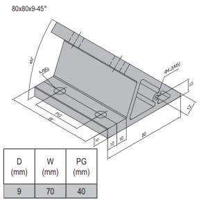 AP BRACKET 80X80-PG40-80 (SET) (3.31.80.40.80.ST)