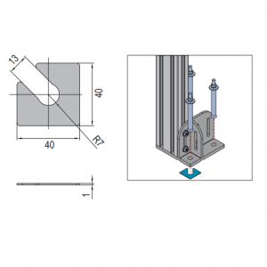BASE PLATE GASKET 40X40X1 (5.11.01)