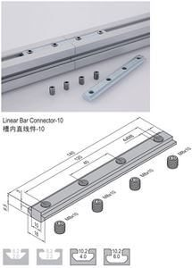 LINEAR BAR CONNECTOR 10 (WITH SCREW SET) PG40/45/50/60 (3.51.10)