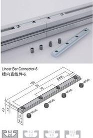 LINEAR BAR CONNECTOR 6 (WITH SCREW SET) PG15/20 (3.51.06)