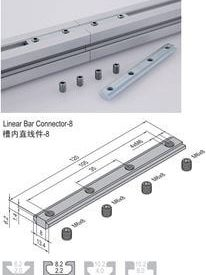 LINEAR BAR CONNECTOR 8 & SET PG30 (3.51.08)