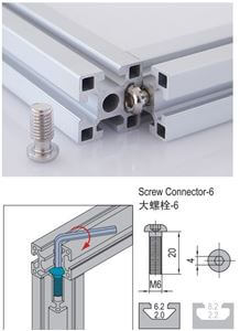 SCREW CONNECTOR 6 PG15/20 (3.81.06)