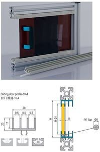 SLIDING DOOR PROFILE-10 3M BAR SET - INCLUDES PE BAR (7.51.10.04.02.ST)
