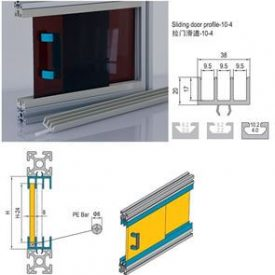 SLIDING DOOR PROFILE-10 FOR PG40 (7.51.10.04.03.ST)