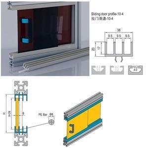 SLIDING DOOR PROFILE-10 FOR PG40 (7.51.10.04.03.ST)