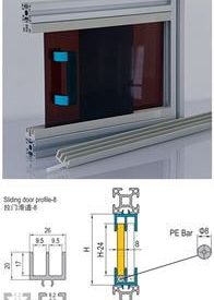 SLIDING DOOR PROFILE-8 3M BAR (7.51.08)