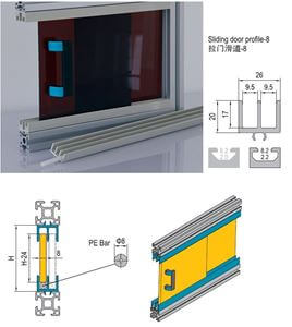 SLIDING DOOR PROFILE-8 FOR PG30 (7.51.08.ST)