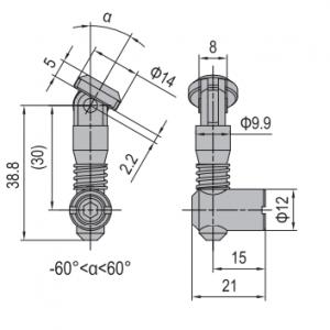 ANCHOR CONNECTOR PG30 OBLIQUE (MODEL P) (3.11.30.04)