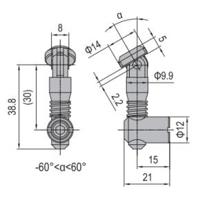 ANCHOR CONNECTOR PG30 OBLIQUE (MODEL C) (3.11.30.05)