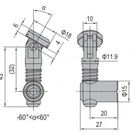 ANCHOR CONNECTOR PG40 OBLIQUE (MODEL P) (3.11.40.04)