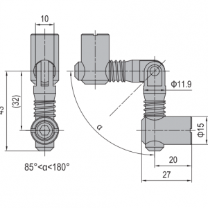 ANCHOR CONNECTOR PG40 MITER (MODEL C) (3.11.40.07)