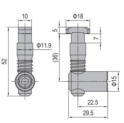 ANCHOR CONNECTOR PG45 STANDARD (MODEL P) (3.11.45.02)